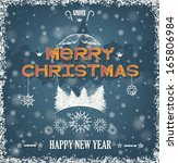 christmas greeting card wiht...   Shutterstock .eps vector #165806984