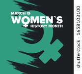 women's history month.... | Shutterstock .eps vector #1658103100