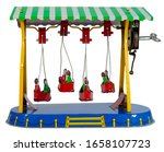 Small photo of Vintage amusement park windup toy canoe ride .