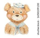 Teddy Bear Sailor Painted In...
