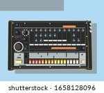legendary synthesizers in... | Shutterstock .eps vector #1658128096