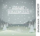 vintage color christmas vector... | Shutterstock .eps vector #165814259