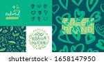 Green Cosmetic Pattern  Eco...