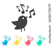 bird with music note multi...