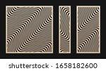 laser cut panel set. vector... | Shutterstock .eps vector #1658182600