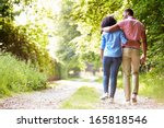 young african american couple... | Shutterstock . vector #165818546