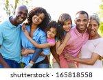 multi generation african... | Shutterstock . vector #165818558