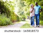 mature african american couple... | Shutterstock . vector #165818573