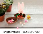 Easter Decorations. Toy Bunny ...
