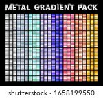 realistic metal chrome gradient ... | Shutterstock .eps vector #1658199550