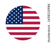 american flag flat vector logo... | Shutterstock .eps vector #1658210986