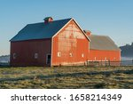Old Red Barn In The Rural...