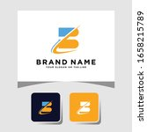colorful logo design letter b... | Shutterstock .eps vector #1658215789