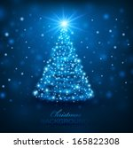 magic christmas tree. christmas ... | Shutterstock .eps vector #165822308
