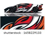 sports car wrapping decal design | Shutterstock .eps vector #1658229133