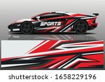 sports car wrapping decal design | Shutterstock .eps vector #1658229196