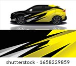 city car wrapping decal design | Shutterstock .eps vector #1658229859