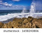 View Of Quobba  Blow Holes In...