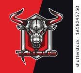 red taurus e sport logo and...   Shutterstock .eps vector #1658245750