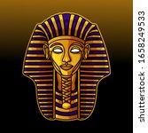 pharaoh head mascot logo design ... | Shutterstock .eps vector #1658249533
