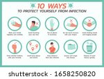 ten ways to protect yourself... | Shutterstock .eps vector #1658250820