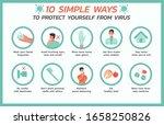ten simple ways to protect... | Shutterstock .eps vector #1658250826