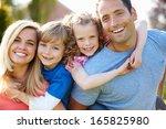 parents giving children...   Shutterstock . vector #165825980