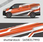 car wrap decal design vector ... | Shutterstock .eps vector #1658317993