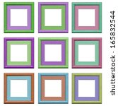 the set of  colorful frames... | Shutterstock . vector #165832544