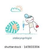 otolaryngologist offers nasal... | Shutterstock .eps vector #165833306