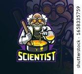 scientist mascot logo design... | Shutterstock .eps vector #1658335759