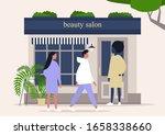 beauty salon storefront ...   Shutterstock .eps vector #1658338660