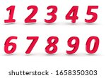 3d numbers 1234567890 on white... | Shutterstock . vector #1658350303