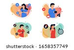 set bundle people using... | Shutterstock .eps vector #1658357749