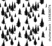 seamless pattern with pine... | Shutterstock .eps vector #165838076