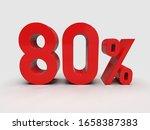 3d Render  Red 80  Percent...