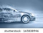 Stock photo abstract car 165838946