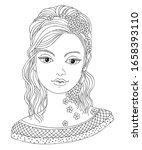 pretty woman portrait.... | Shutterstock .eps vector #1658393110