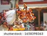 Ornaments on the head of carriage horses in Jerez de la Frontera