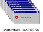 critical error. system message... | Shutterstock .eps vector #1658403739