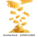 italian pasta levitating on a... | Shutterstock . vector #1658411860