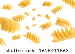 italian pasta levitating on a... | Shutterstock . vector #1658411863