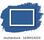 white frame and blue ink brush... | Shutterstock .eps vector #1658414233
