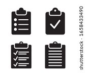 checklist icon set. vector...
