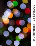 blurred christmas tree lights... | Shutterstock . vector #165846020