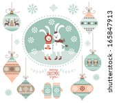 christmas graphic elements | Shutterstock .eps vector #165847913