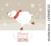 christmas illustration  white... | Shutterstock .eps vector #165848210