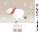 christmas illustration  white... | Shutterstock .eps vector #165848210