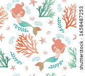 seamless pattern with cute... | Shutterstock .eps vector #1658487253
