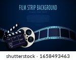 3d Film Reel  Clapper Board An...